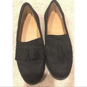 Shoedazzle Black Loafers